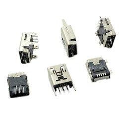 10 шт., 5-контактный разъем Mini USB Type-B типа «мама»