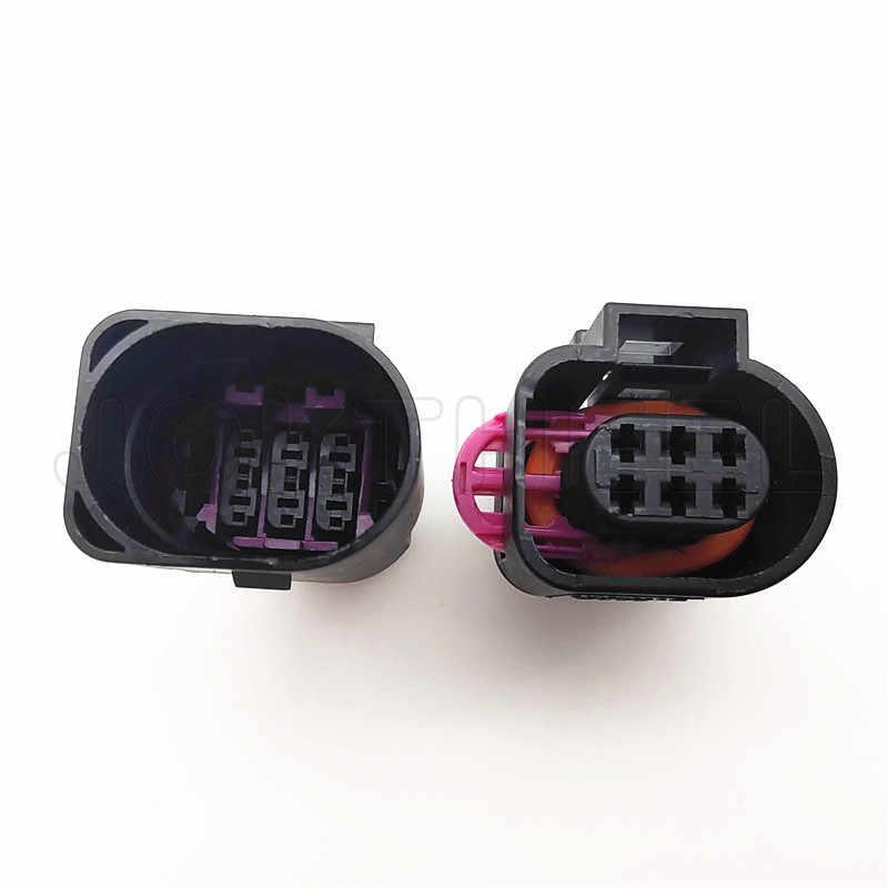 1-20 zestawów 6 Pin 1.5mm mężczyzna auto złącze wtryskiwacza paliwa czujnik temperatury przepustnicy wtyczka dla Golf Jetta Passat Polo AUDI A3 A4 3B0973813