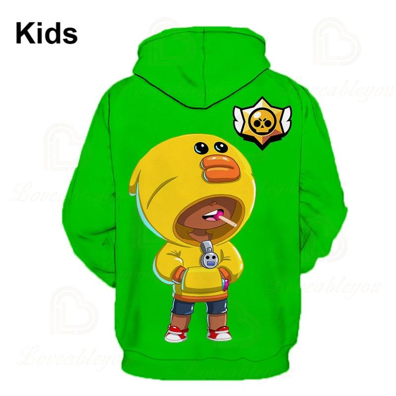 Games Shark Leon Star Children's Wear Kids Hoodie Shooting Game 3d Sweatshirt Gameing Boys Girls Tops Hoodies Teen Clothes  - buy with discount