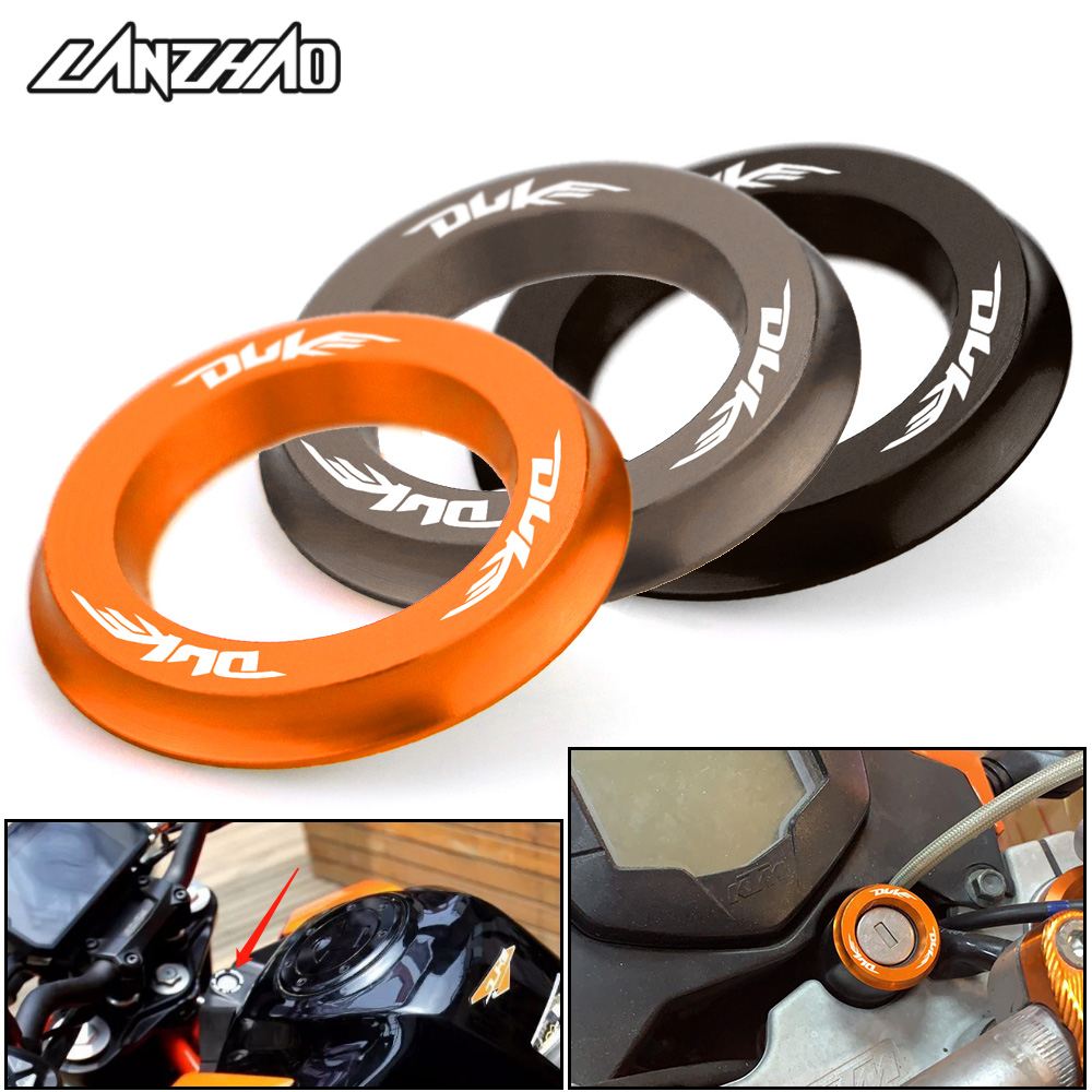 Duke Motorcycle Ignition Switch Cover Ring Circle for KTM Duke 125 200 250 390 690 990 1290 2013 2014 2015 2016 2017 2018 2019 image