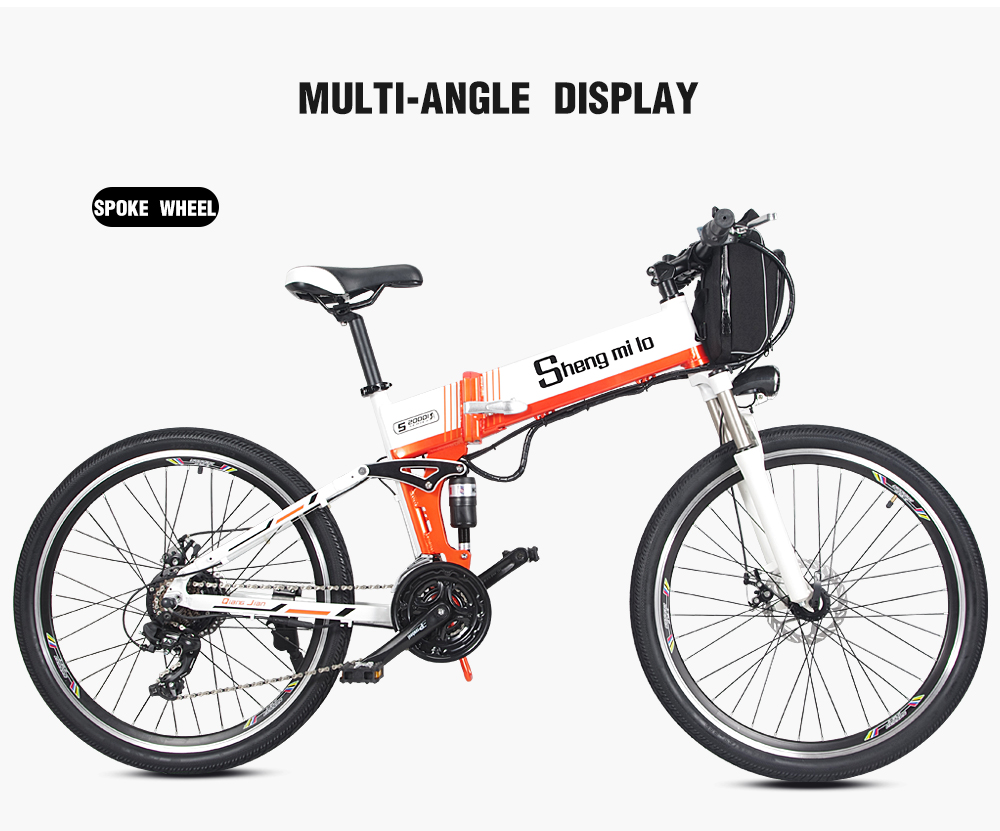 Новый электрический велосипед 21 Скорость 10AH 48V 350W 110 км встроенный литий ионный аккумулятор Байк, способный преодолевать Броды Электрический 26 внедорожный Электрический складной велосипед - 3