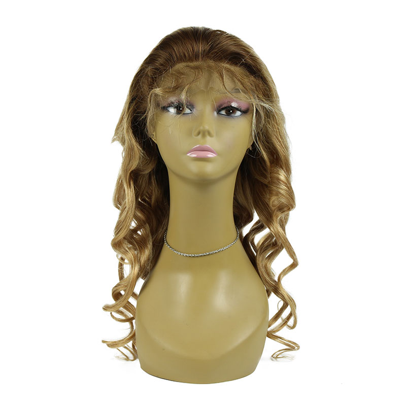 130% Density Loose Wave Virgin Human Hair Lace Front Wig