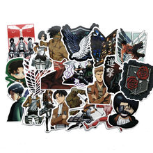 42Pcs/lot Japanese Anime Attack on titan Mikasa Levi Eren Stickers For Waterproof Car Phone Luggage Laptop Bicycle Decal Sticker(China)