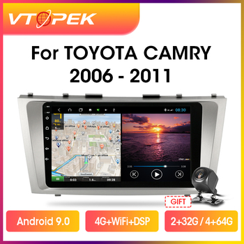 Vtopek 9 4G+WiFi Android Car Radio Multimedia Video Player For Toyota Camry 7 XV 40 50 2006-2011 Navigation GPS Head Unit 2din image
