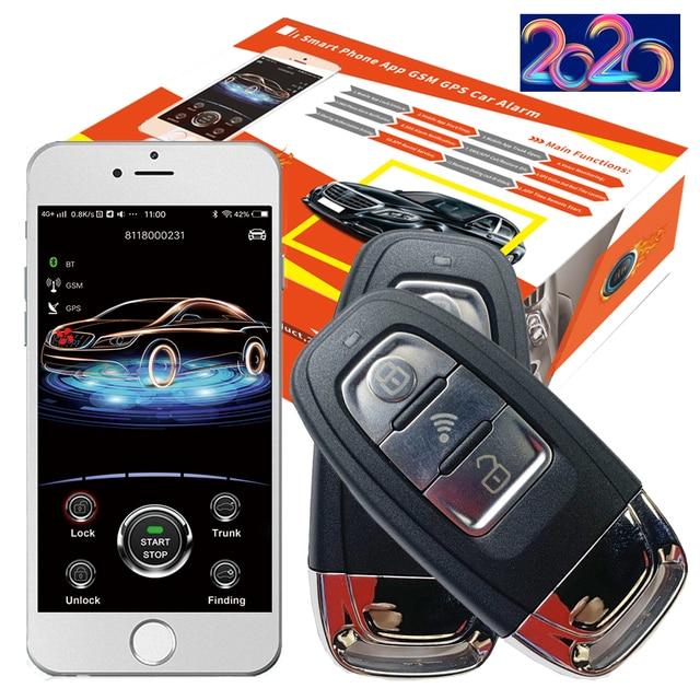 Cardot 2G Passieve Keyless Entry Systeem Smart Auto alarmen Drukknop Start Stop Mobiele App Smart Pke Auto alarmsysteem