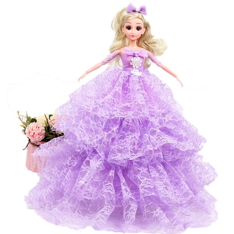 4D blink girl toy Barbie doll Naked baby doll body head barbie doll kid gift 5#