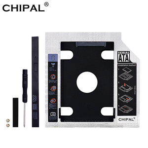 CHIPAL 2nd HDD Caddy 9.5mm 12.7mm Optibay SATA 3.0 HDD Case / Enclosure Adapter DVD Hard Disk Drive For 2.5'' SSD 2TB for Laptop