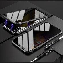 Riêng Tư Tấm Bảo Vệ Màn Hình Từ Tính Cho iPhone 11 Pro XS Max X XR Chống Peep Kính Cường Lực Cho iPhone 7 8 6 6S 6S Plus SE 2020 Trường Hợp