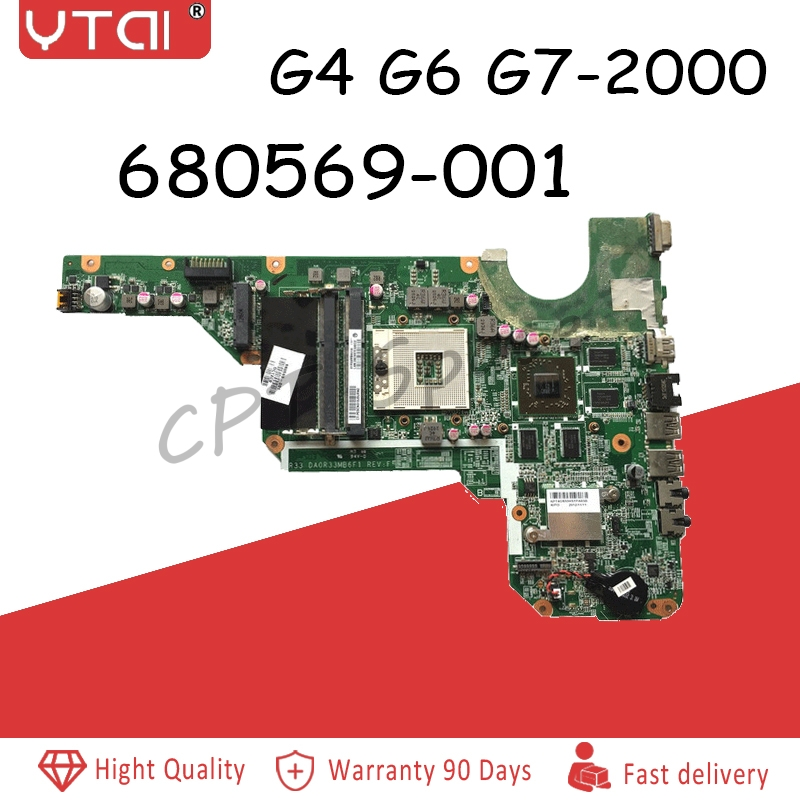 DA0R33MB6E0 G6-2000 Motherboard For Hp Pavilion G4-2000 G6-2000 G7 Laptop With 100% Fully Tested  680569-001 680569-501