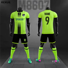 DIY Soccer jersey set men football uniform custom soccer jerseys futbol adult football set suit 2019 2020 New Big Size tracksuit