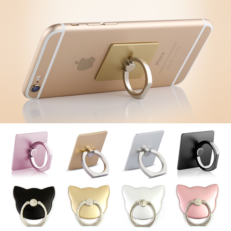 Mobile Phone Bracket Ring Holder Ring Buckle 360 Degree Free Rotating Adhesive For IPhone Samsung Xiaomi Support Wholesale