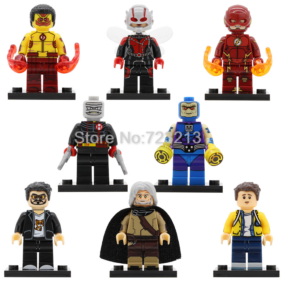 Super Hero Iron Man Tony Figure Set Wally West The Flash Ego Wasp Spider Man Hush Mongul Building Blocks Bricks Toy Legoing