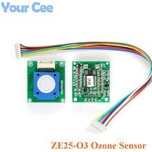 Módulo de Sensor de ozono ZE25 O3, Sensor de Gas, detección de ozono O3 UART/voltaje analógico/onda PWM 3,7 5,5 V