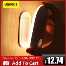 Baseus磁気夜の光人体誘導の夜の光ledランプ充電式ボディ自動誘導ランプウォールライト