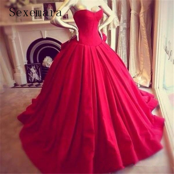 Vintage Princess Red Formal Ball Evening Gowns Sweetheart Floor Length Big Bow Back Bride 2020 Mother Of The Bride Dresses