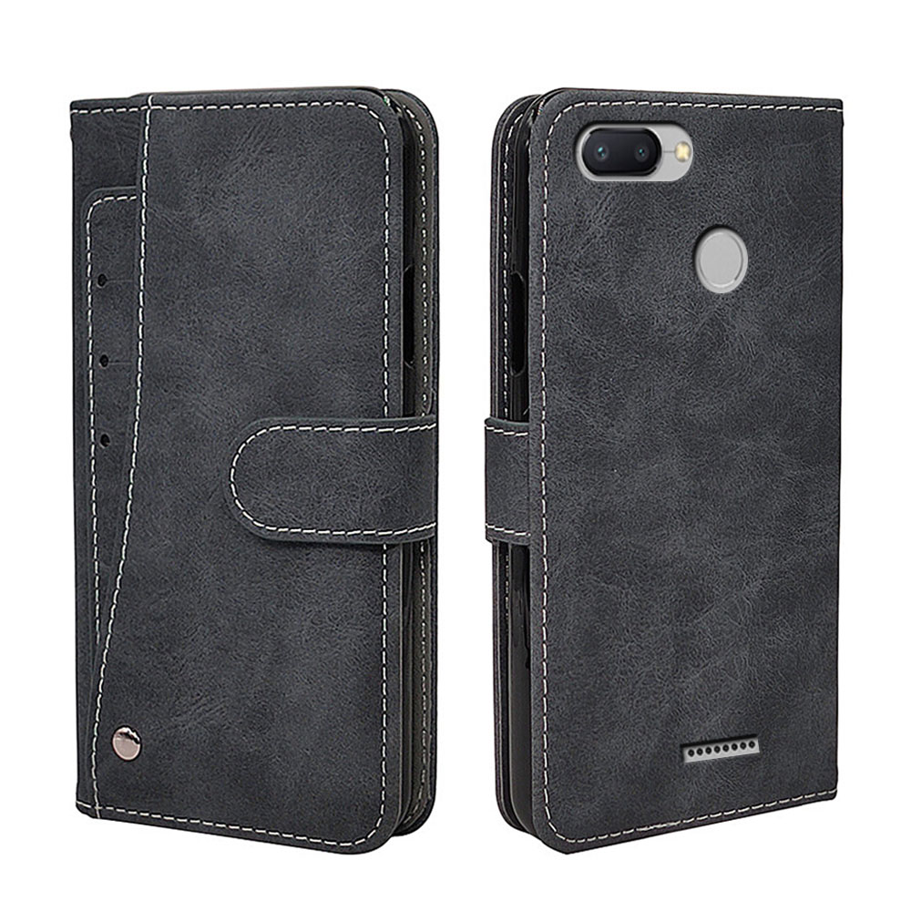 Luxury Vintage <font><b>Case</b></font> For <font><b>Xiaomi</b></font> <font><b>Redmi</b></font> 6 <font><b>6A</b></font> Pro <font><b>Case</b></font> <font><b>Flip</b></font> Leather Silicone Wallet <font><b>Phone</b></font> Cover TPU Business With Card Holder image