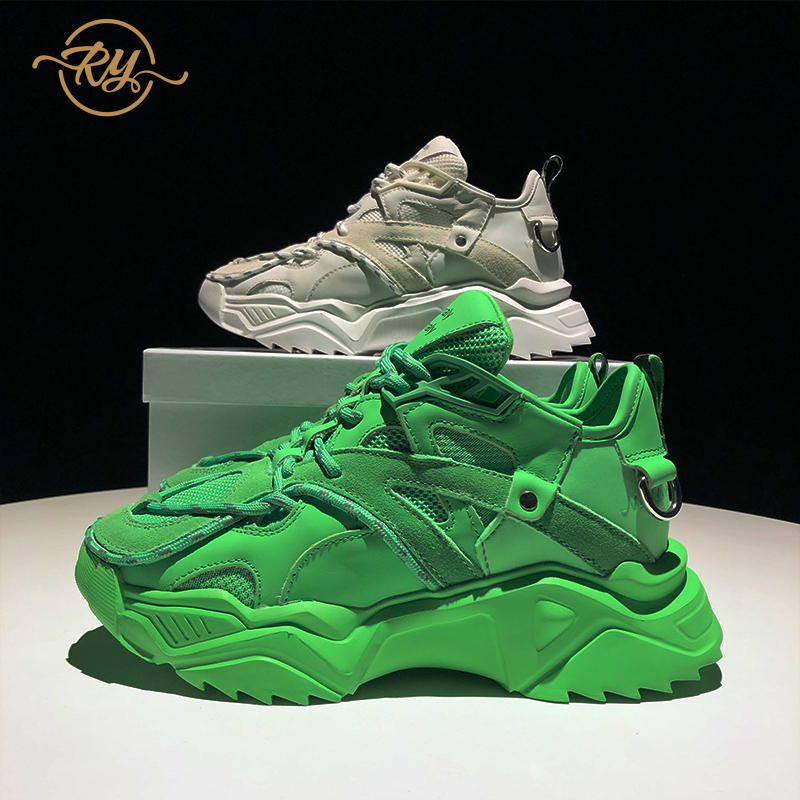RY-RELAA womens sneakers shoes 2020 fashion Genuine Leather womens luxury shoes ins style autum shoes women platform sneakers