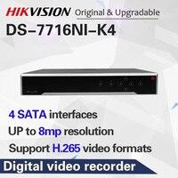 Frete grátis HIKVISION DS 7716NI K4 Internacional Inglês versão 16CH 4K 4 SATA NVR  câmeras IP NVR suporta até 8MP H.265|gravador de vídeo de vigilância|Segurança e Proteção -