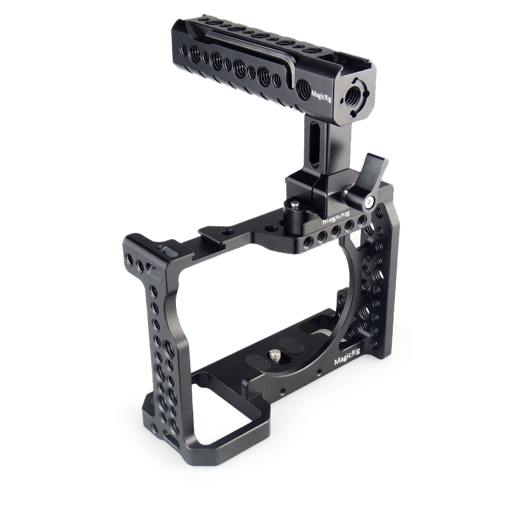 Image 5 - MAGICRIG DSLR Camera Cage with NATO Handle and Ball Head for Sony A7II /A7III /A7SII /A7M3 /A7RII /A7RIII Camera Extension Kit-in Camera Cage from Consumer Electronics