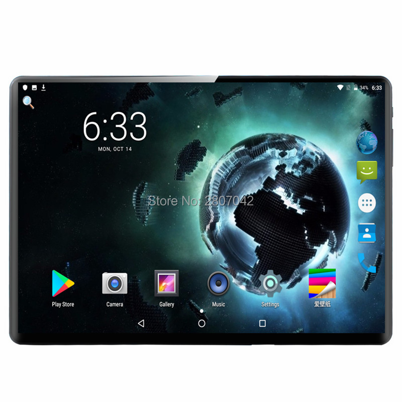6G+64GB 10 Inch Tablet PC 3G Android 9.0 Deca Core Super Tablets Ram 6GB Rom 64GB WiFi GPS 10.1 Tablet IPS T100 Dual SIM GPS