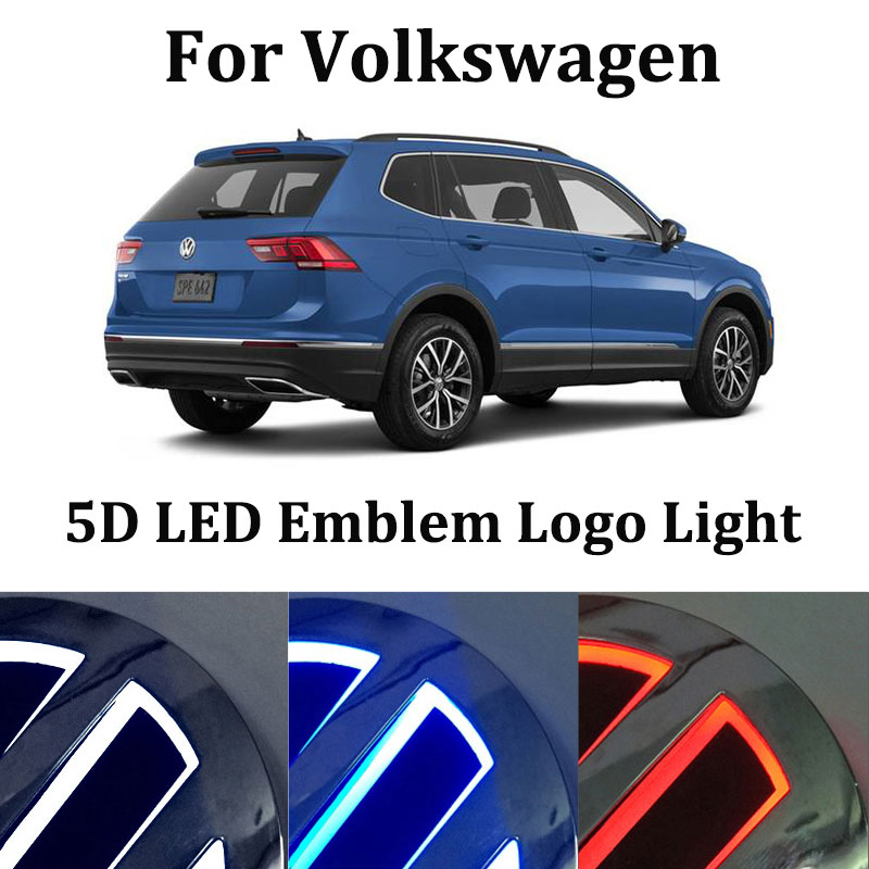 5D LED marker light for Volkswagen caddy touran Golf 4 MK4 Scirocco Tiguan Magotan Passat B6 B7 CC T5 led logo badge logo light image