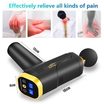 Massage Gun Fascia Gun Neck Massager Vibration Fitness Equipment Noise Reduction Design Electric Massager 2