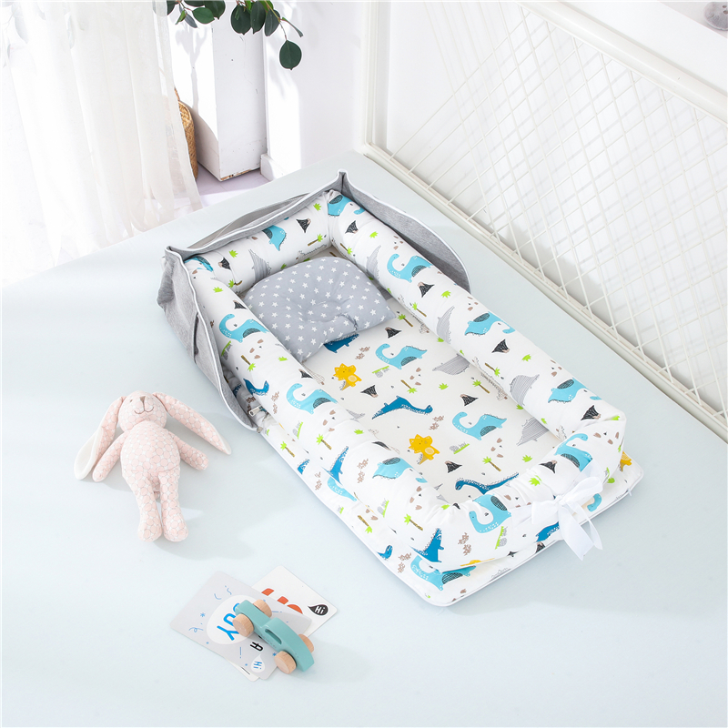Travel Bed Baby Nest Bed Infant Cotton Crib Baby Bassinet Bumper Newborn Bed