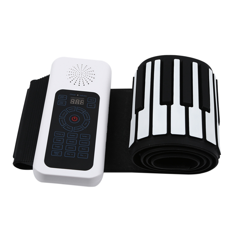 Upgraded 88 Keys Universal Flexible Roll Up Soft Electronic Keyboard Piano for Guitar Players