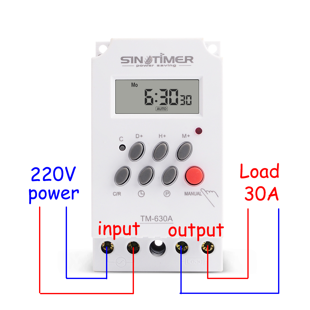 30Amp 220V MINI TIMER SWITCH 7 Days Programmable Time Relay FREE SHIPPING|Relays|Home Improvement - title=