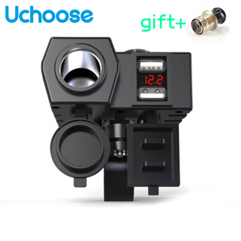 Electric Car Motorcycle Dual USB Joint Mobile Cell Phone Charger Fast Charge Waterproof Cigarette Lighter Universal Accessories high quality black dual double usb port car charger cigarette lighter for iphone ipad samsung cell phone charger for travel use