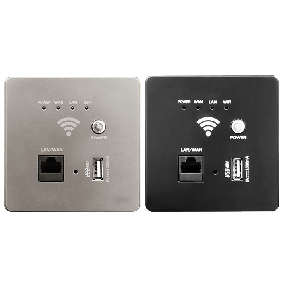 300M hotel family 220V into the wall WIFI wireless network signal amplifier Smart socket relay AP panel in Switches from Lights Lighting