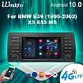 магнитола 2 din андроид 2 DIN Android 10 автомобильный радиоприемник carplay для BMW E39 E53 M5 1995-2003 стерео мультимедийный плеер 7 дюймов автомагнитола GPS нав...