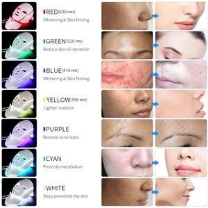 Image 3 - Führte Gesichts Maske 7 Farben Photon Lichttherapie Led Maske Mit Hals Haut Verjüngung Anti Falten Akne Bleaching Schönheit behandlung