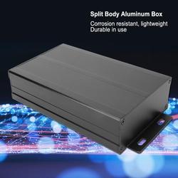 Areia preto extrudado caixas de alumínio à prova dpcb água pwb instrumento caixa de projeto eletrônico caixa de junção diy 40x97x150mm