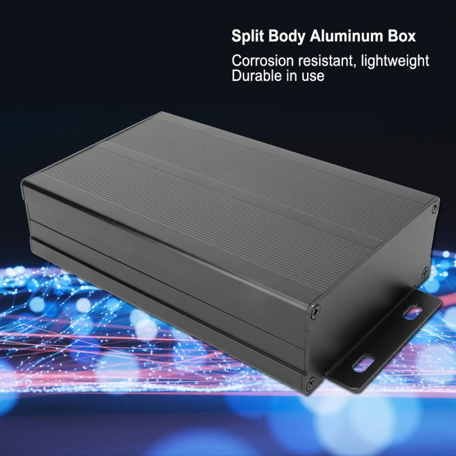 Sand Black Extruded Aluminum Enclosures Waterproof PCB Instrument Electronic Project Box Case DIY Junction Box 40x97x150mm