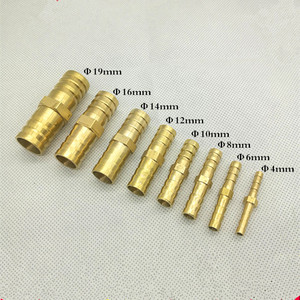 Brass Straight Hose Pipe Fitting Equal Barb 4mm 6mm 8mm 10mm 12mm 14mm 19mm Gas Copper Barbed Coupler Connector Adapter