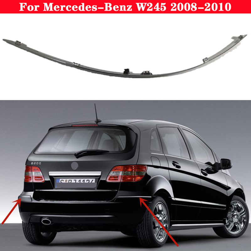 Car Bumper Chrome Reflective strip for Mercedes-Benz B CLASS W245 2008-2010 1698851921 A1698851721 Warning plating bright strip