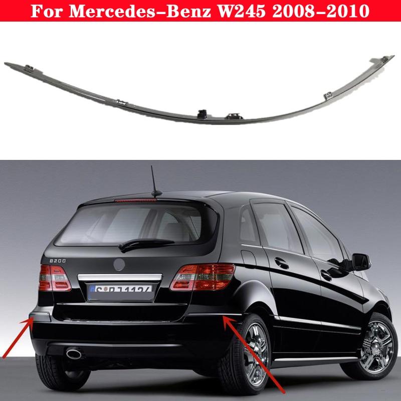 Car Bumper Chrome Reflective strip for Mercedes-Benz B CLASS W245 2008-2010 1698851921 A1698851721 Warning plating bright strip
