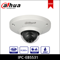 Dahua IP Camera 5MP IPC EB5531 1.4mm Focal Length Panoramic Network Fisheye Camera Support PoE Security Camera