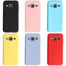 Caso da cor dos doces para samsung galaxy j5 2015 caso macio silicone tpu capa traseira caso do telefone para samsung j5 2015 j500 j500f j500h