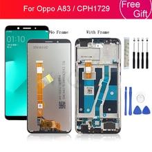 """Voor OPPO A83 Lcd Touch Screen Digitizer Vergadering Met Frame voor OPPO CPH1729 Screen Vervanging reparatie onderdelen 5.7"""""""