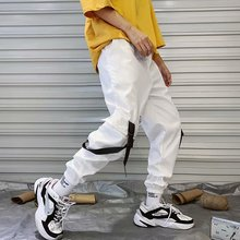 2019 Autumn Harem Pants Mens Streetwear Jogger Pants Sweatpants Pants Men Hip Hop Ribbons цена