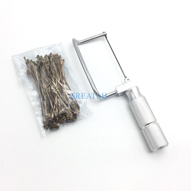 Dental Lab Short Plaster Saw(98mm) +100 Short Saw Blades Dentist Tool Dental Lab Equipment