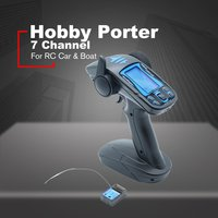 Hobby HP007 7 Channel Remote Control Transmitter For Rc Car & Boat with Rock Crawler Model Outdoor Toys For Boy Toys Gifts