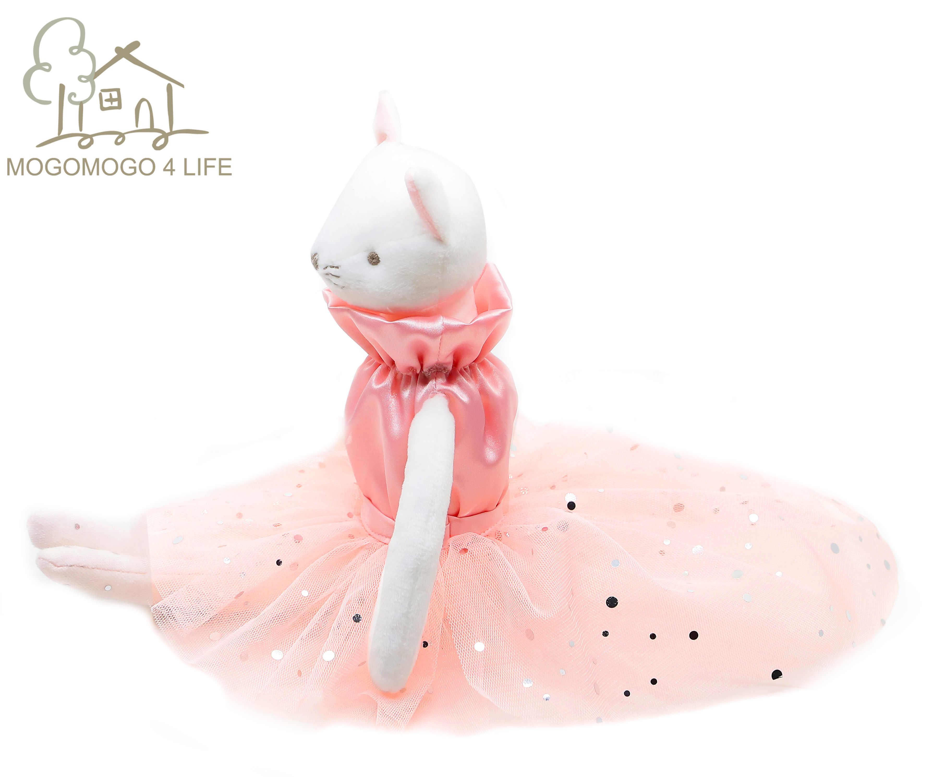 Luksusowe baleriny kot pluszowe zabawki słodkie urodziny prezent dla dziewczyn moda Handmade projektant różowy księżniczka balet lalka kotek