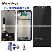 купить LCD For Xiaomi Redmi Note 7 LCD Display Touch Screen Digitizer Assembly Replacement For Redmi Note7 Pro LCD With Frame + Tools дешево