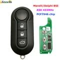 3 кнопки дистанционного ключа спросить 433 МГц PCF7946 чип для Fiat 500 Punto Florino Doblo Qubo 500L Grande Marelli или для Deliphi BSI Системы