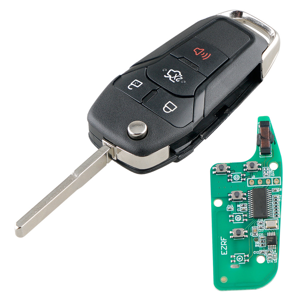 315MHz 4 Buttons Remote Flip Car <font><b>Key</b></font> Fob with N5F-A08TAA Chip for <font><b>Ford</b></font> <font><b>Fusion</b></font> 2013 2014 <font><b>2015</b></font> 2016 image