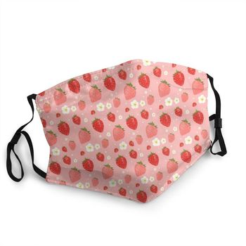 Strawberry Daydream Non-Disposable Face Mask Strawberries Pattern Anti Dust Protection Cover Respirator Mouth Muffle image