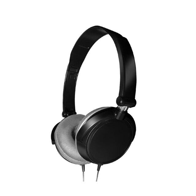 2019 nowe słuchawki przewodowe 3.5mm okrągły interfejs z mikrofonem na ucho składane słuchawki Bass HiFi Sound muzyczne słuchawki stereo